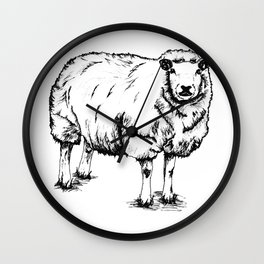 Sheep Sheep. Wall Clock