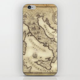 Vintage map of Italy iPhone Skin