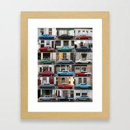 Cuba Cars - Vertical Framed Art Print