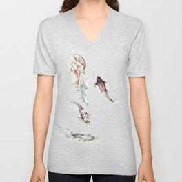 Koi Fish Watercolour Unisex V-Neck