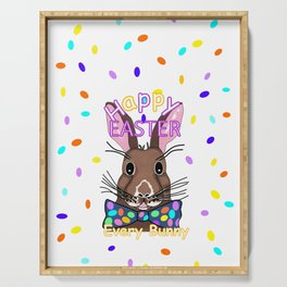 Happy Easter Every Bunny Serving Tray