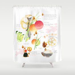 temari sushi Shower Curtain