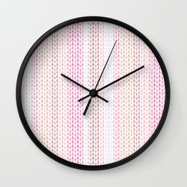 Knitted pattern in pastel colours.2 Wall Clock