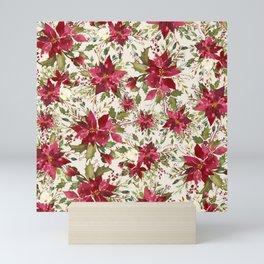 POINSETTIA - FLOWER OF THE HOLY NIGHT Mini Art Print