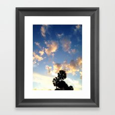 Palm Trees, Ocean Breeze Framed Art Print