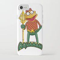 aquaman iPhone & iPod Cases featuring Scooter the Aquaman by JoshEssel