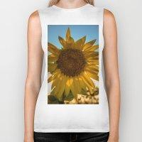 sunflower Biker Tanks featuring Sunflower by Svetlana Korneliuk