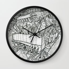 Flying pick-up Wall Clock