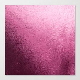 Modern abstract burgundy red pink gradient design Canvas Print