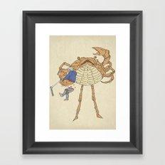 SCALLY CRAB Framed Art Print