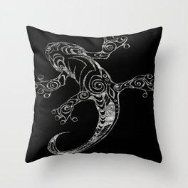 Lizard in Reverse Throw Pillow