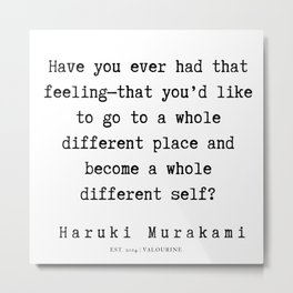 91  |  Haruki Murakami Quotes | 190811 Metal Print