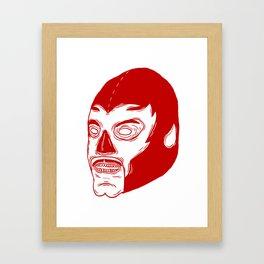 Red Luchador Framed Art Print