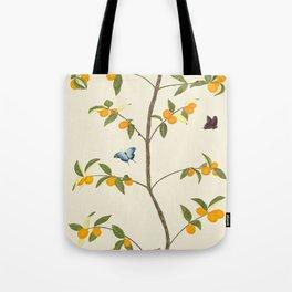 Jenny Chinoiserie Kumquat Tote Bag
