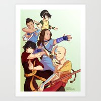 the last airbender Art Prints featuring avatar: the last airbender by Anyeka