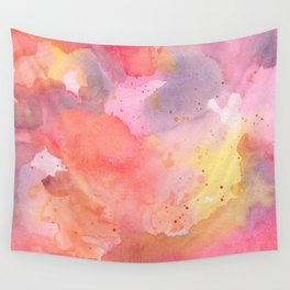 Sunset Color Palette Abstract Watercolor Painting Wall Tapestry