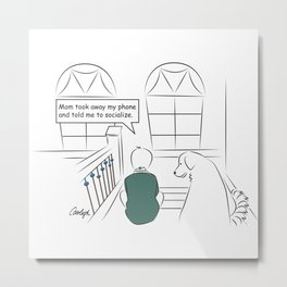 Get Off Your Phone and Socialize Metal Print