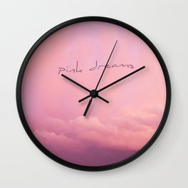 pink dreams Wall Clock