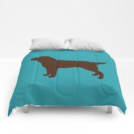 Labrador Retriever, Lab (Teal/Chocolate) Comforters