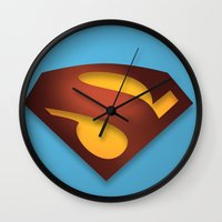 shield Wall Clocks featuring shield by hobbs