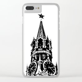 Kremlin Chimes-b&w Clear iPhone Case
