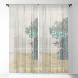 Texas state line ... Sheer Curtain