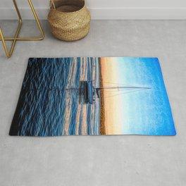 Sailboat at Sunset Rug