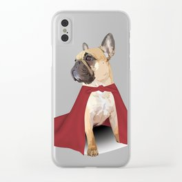 Super Frenchie: French Bulldog in Cape Clear iPhone Case