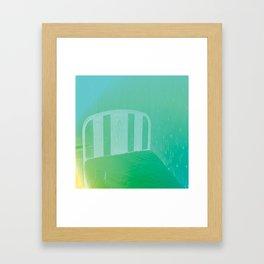 bed Framed Art Print