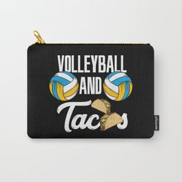 Volleyball And Tacos Fast Food Sports Gift Carry-All Pouch