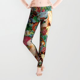 Floral and Animals pattern Leggings