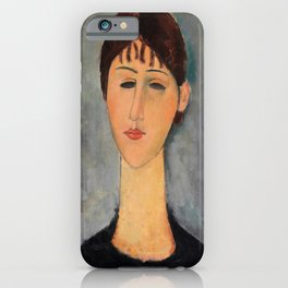 Amedeo Modigliani - Portrait Of Mme Zborowska - Digital Remastered Edition iPhone Case