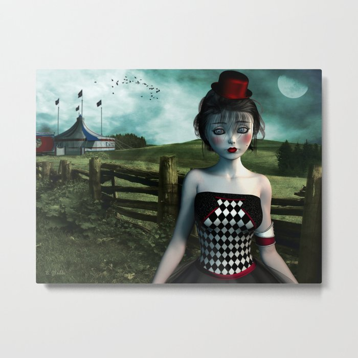 Leaving the circus Metal Print