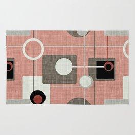 Orbs & Squares Pink Rug