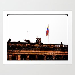 Plaza Of Bolivar, Colombia. Art Print