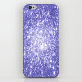 Lavender Periwinkle Sparkle Stars iPhone Skin