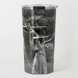 Colourised: Japanese Archers Travel Mug