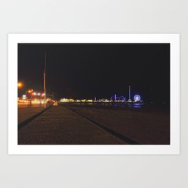 Galveston Pier  Art Print