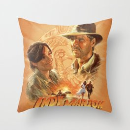 Indy with Marion Throw Pillow
