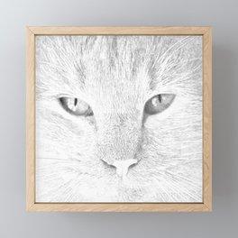 sandy, close up, drawing b&w Framed Mini Art Print
