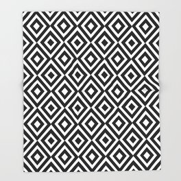 black and white symetric patterns 5- Throw Blanket