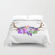Floral Horn Duvet Cover