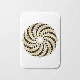 BLACK AND GOLD TORUS circular sacred geometry Bath Mat