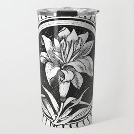 White flower Flor blanca Travel Mug