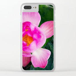 Wabi-Sabi Lotus Clear iPhone Case