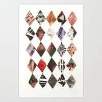 diamonds Art Prints featuring DIAMONDS by Brandon Neher