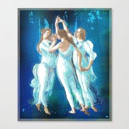 Botticelli Pop Remix 2 Canvas Print