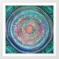 Pink and Turquoise Mandala Art Print