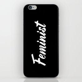 Feminist (on black) iPhone Skin