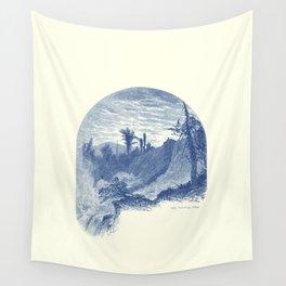 Lower Falls, Ticonderoga (cyan) Wall Tapestry